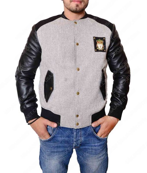 Liverpool Grey Letterman Jacket