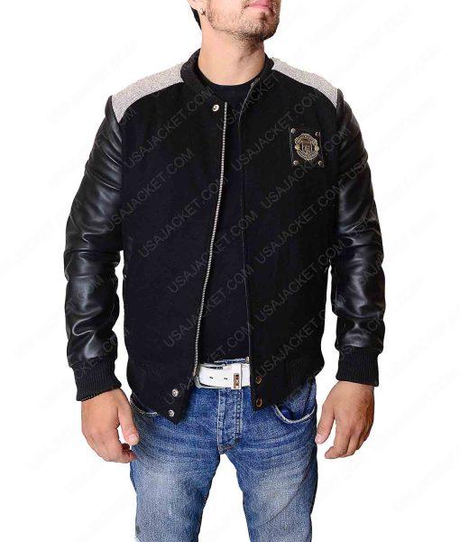 Manchester United Black Letterman Jacket