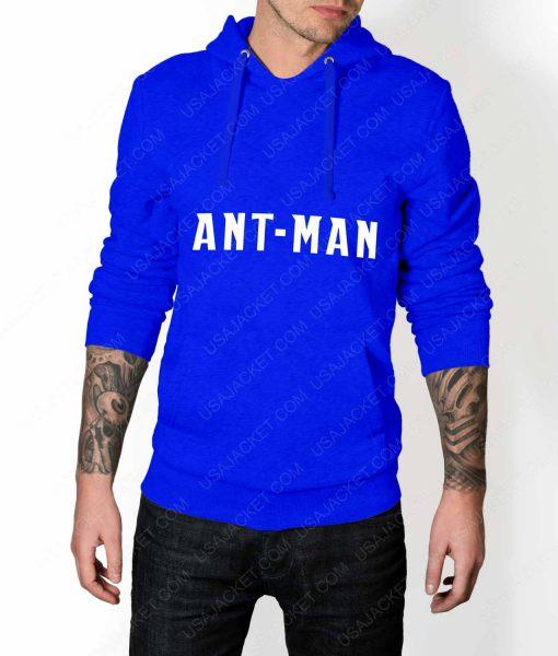 Men Ant-Man Logo Blue Pullover Hoodie