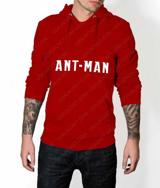 Men Ant-Man Logo Red Pullover Hoodie