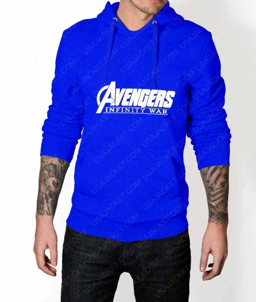 Men Avengers Infinity War Logo Blue Hoodie