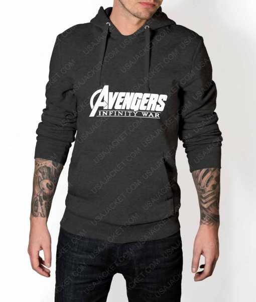 Men Avengers Infinity War Logo Grey Hoodie