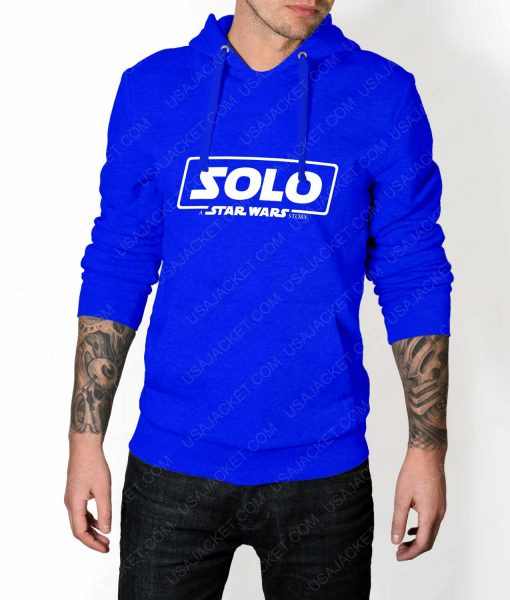 Mens Solo A Star Wars Story Logo Blue Hoodie
