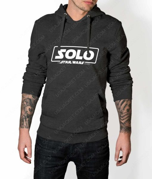 Mens Solo A Star Wars Story Logo Grey Hoodie