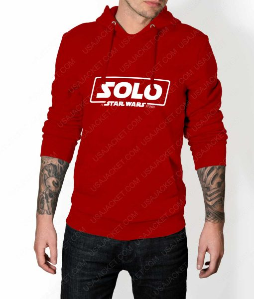 Mens Solo A Star Wars Story Logo Red Hoodie
