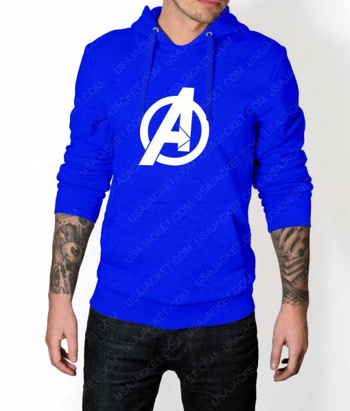 Mens The Avengers Pullover Blue Hoodie