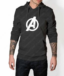 Mens The Avengers Pullover Grey Hoodie