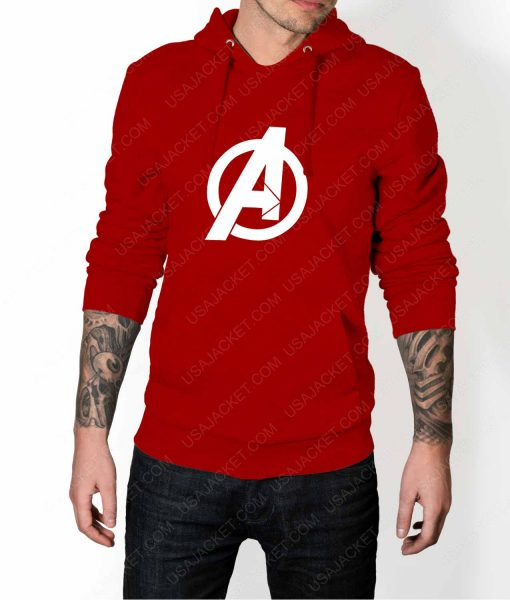 Mens The Avengers Pullover Red Hoodie