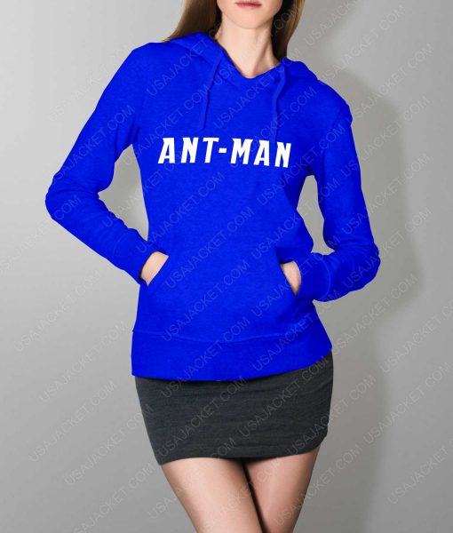 Women Ant-Man Logo Blue Pullover Hoodie
