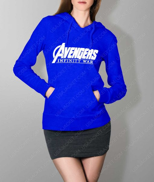 Women Avengers Infinity War Logo Blue Hoodie