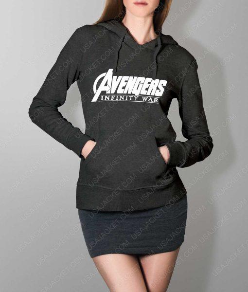 Women Avengers Infinity War Logo Grey Hoodie