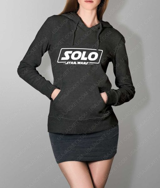 Women Solo A Star Wars Story Logo Grey Hoodie