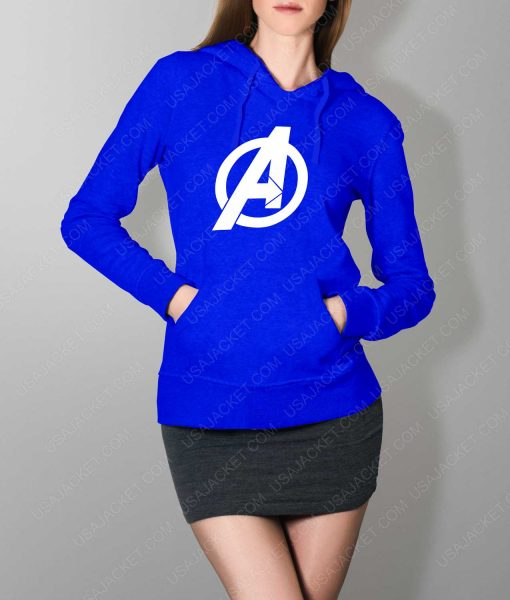 Womens The Avengers Pullover Blue Hoodie
