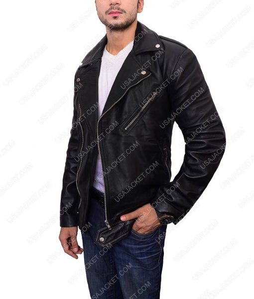 Adam Levine Black Biker Jacket