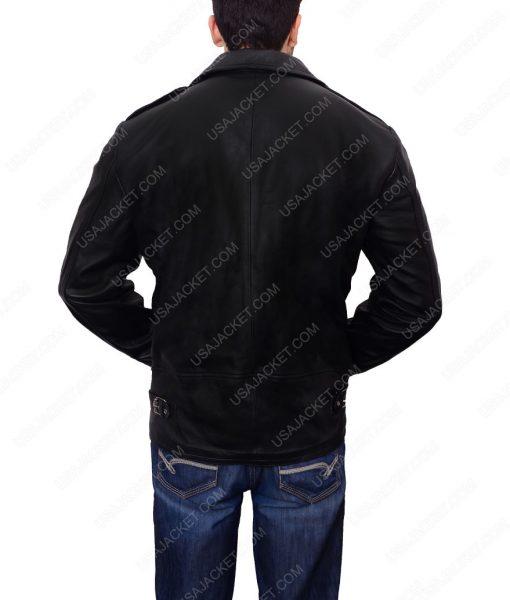 Adam Levine Black Biker Leather Jacket