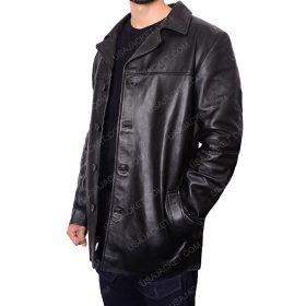 Will Dormer Insomnia Al Pacino Black Leather jacket