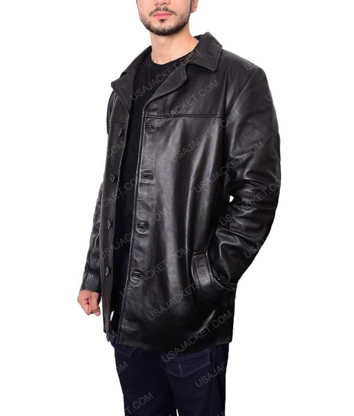 Will Dormer Insomnia Al Pacino Black Leather jacket