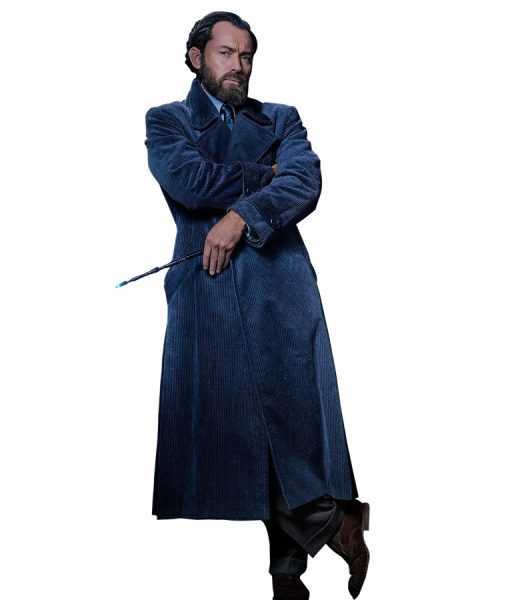Albus Dumbledore Blue Trench Coat