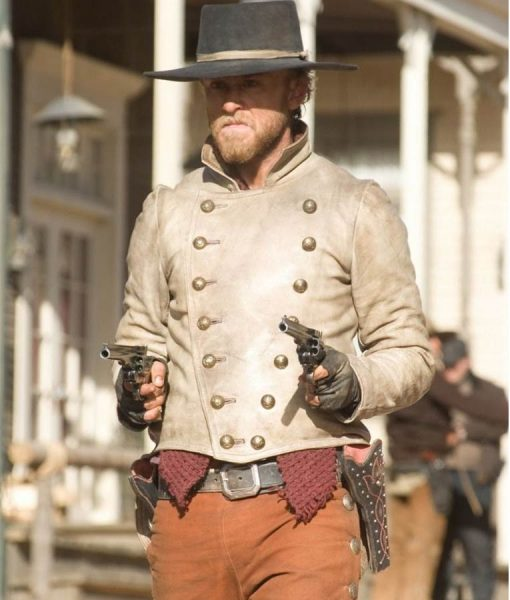 Ben Foster 310 to Yuma Charlie Prince Leather Jacket