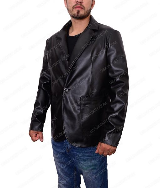 Mens Casual Blazer Leather Jacket