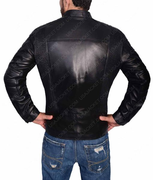 Black Slimfit Leather Jacket