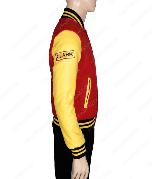 Tom Welling Smallville Clark Kent Crows Varsity Jacket