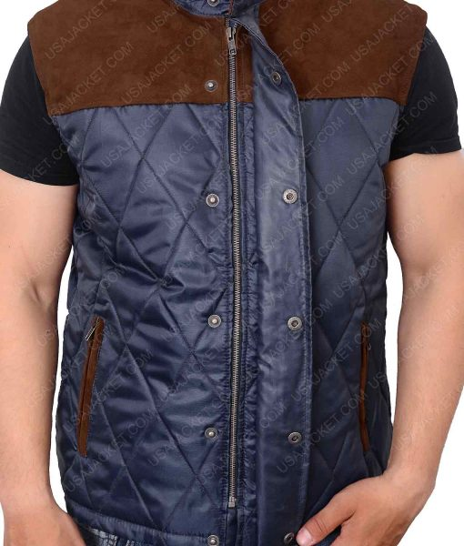 Alex Roe The 5th Wave Evan Walker Quilted Satin Vest