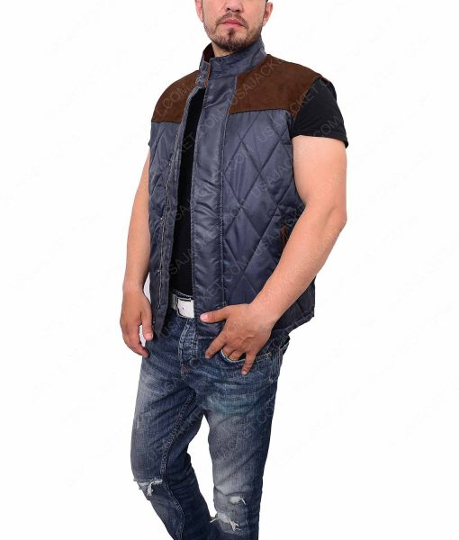 Evan Walker Quilted Satin Vest