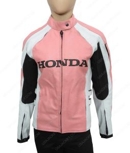 Womens Honda Biker Leather Jacket