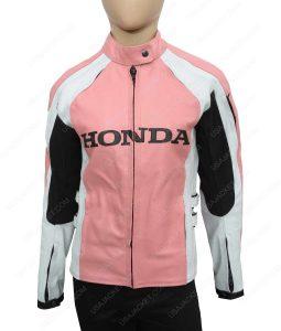 Womens Honda Biker Leather Jacket