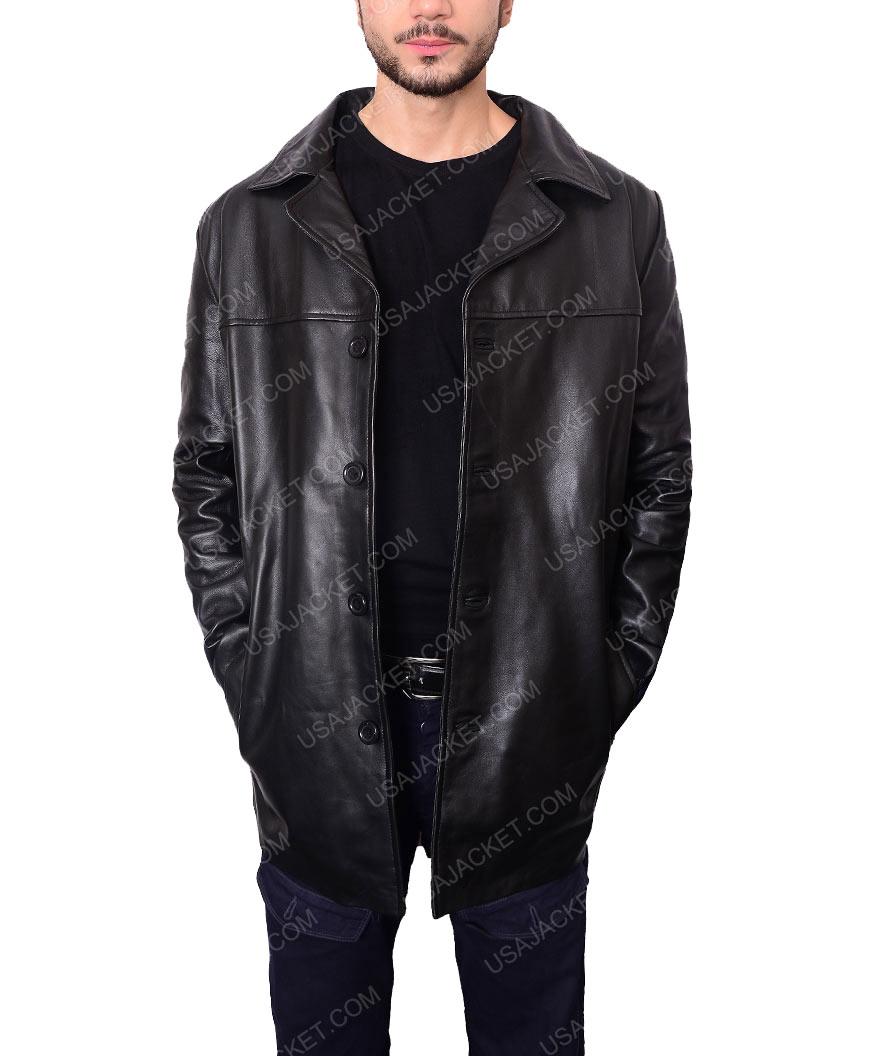 Al Pacino Will Dormer Insomnia Black Leather Blazer