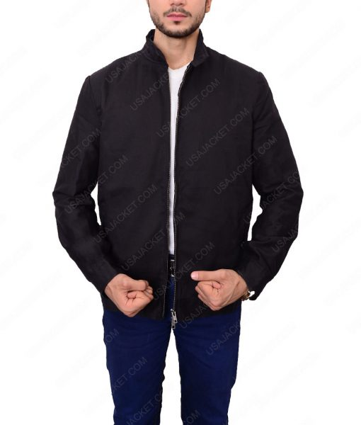 James Bond Quantum Of Solace Daniel Craig Black Cotton Jacket