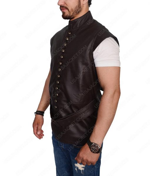 Galavant Joshua Sasse Dark Brown Leather Vest