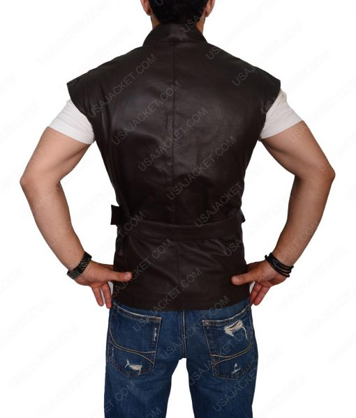 Joshua Sasse Dark Brown Leather Vest