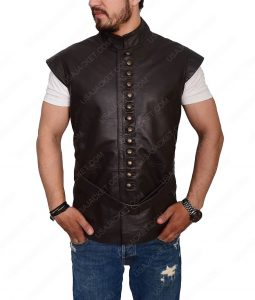 Joshua Sasse Galavant Leather Vest
