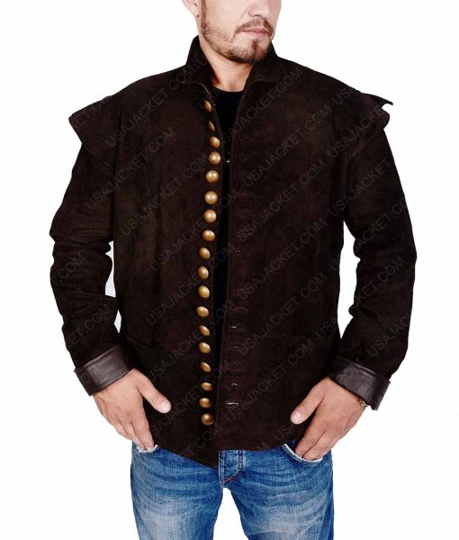 Laurie Davidson Will William Shakespeare Brown Leather Jacket