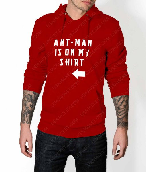 Mens Ant-Man Is On My Shirt Red Hoodie