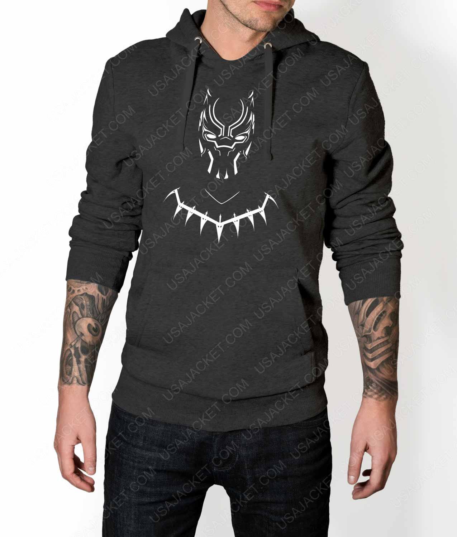 Black Panther Mask Logo Pullover Hoodie