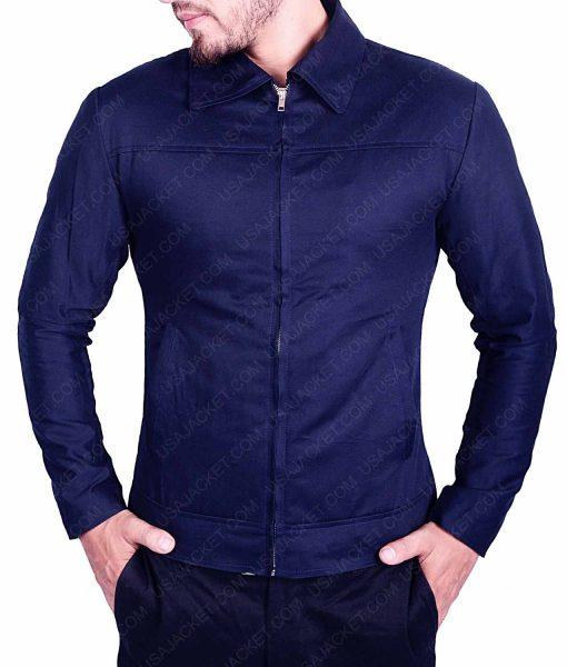 Mens Blue Casual Slimfit Jacket