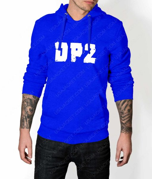 Mens DP2 Logo Blue Hoodie