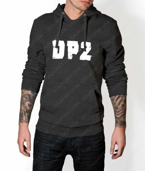 Mens DP2 Logo Grey Hoodie