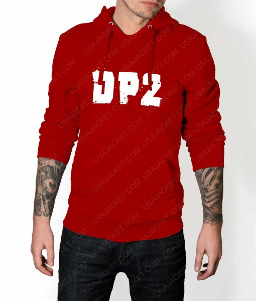 Mens DP2 Logo Red Hoodie