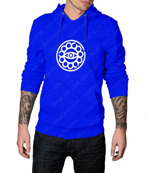 Mens Doctor Strange Eye Of Agamotto Logo Blue Hoodie