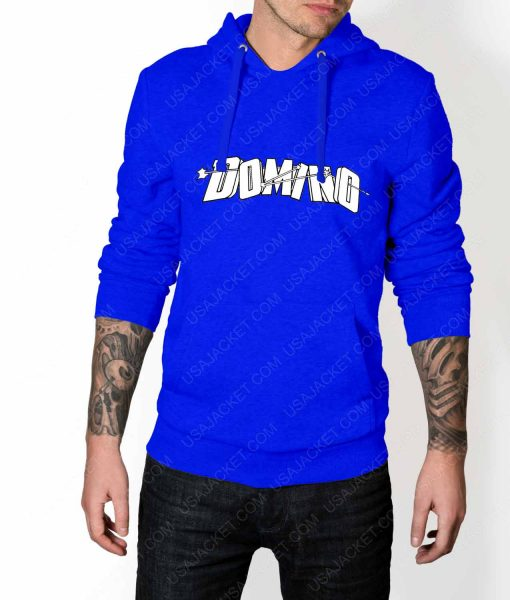 Mens Domino DP2 Blue Hoodie