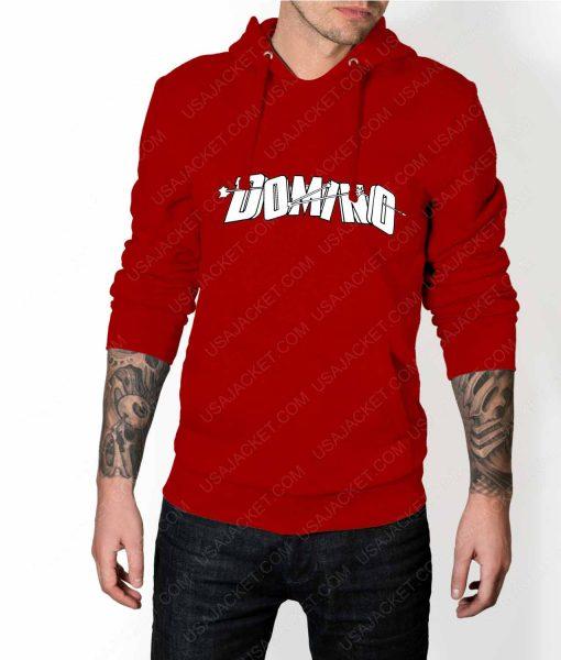 Mens Domino DP2 Red Hoodie