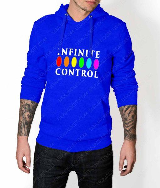 Mens Infinite Control Stone Power Blue Hoodie