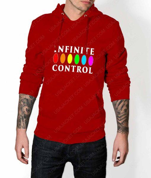 Mens Infinite Control Stone Power Red Hoodie