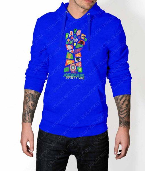 Mens Infinity War Pop Art Blue Hoodie