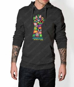 Mens Infinity War Pop Art Grey Hoodie