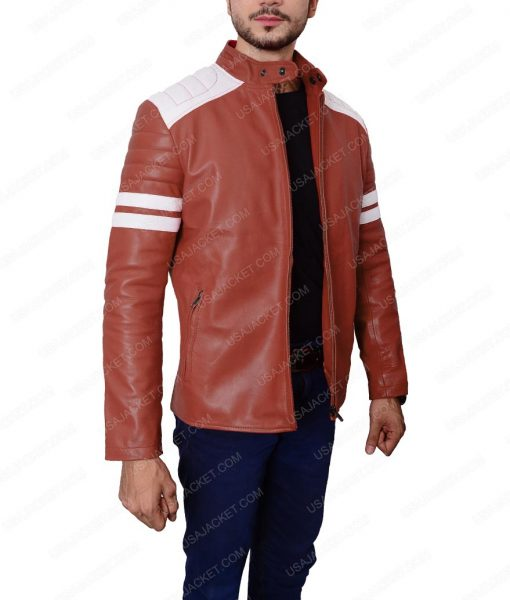 Fight Club Brad Pitt Mayhem Retro Jacket